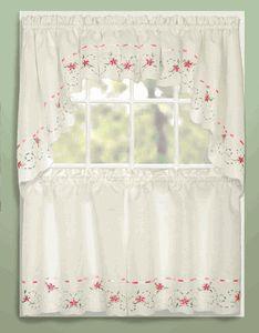 Rachael Kitchen Curtains -Taupe - United Curtains - Country Kitchen Curtains