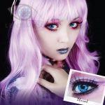 Lenti a contatto colorate blu Crazy Lens. 2 lenti COSPLAY