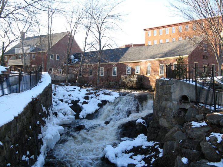The Powwow River Falls, Amesbury MA. It's close to home and I like saying we live in a town with a waterfall.
