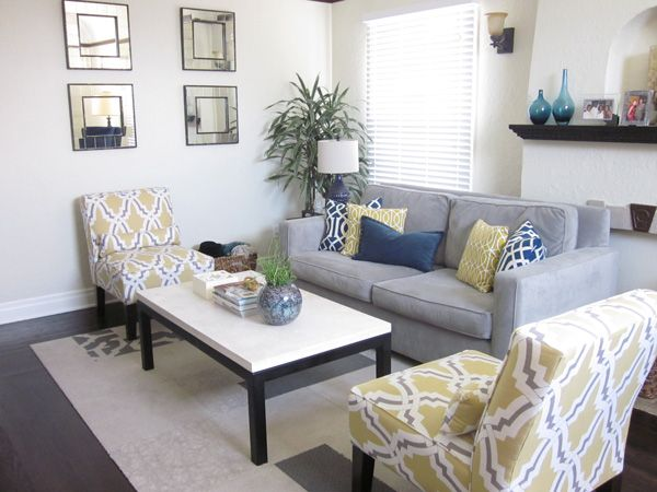blue and yellow living room | living room furniture west elm modern design decorate henry sofa