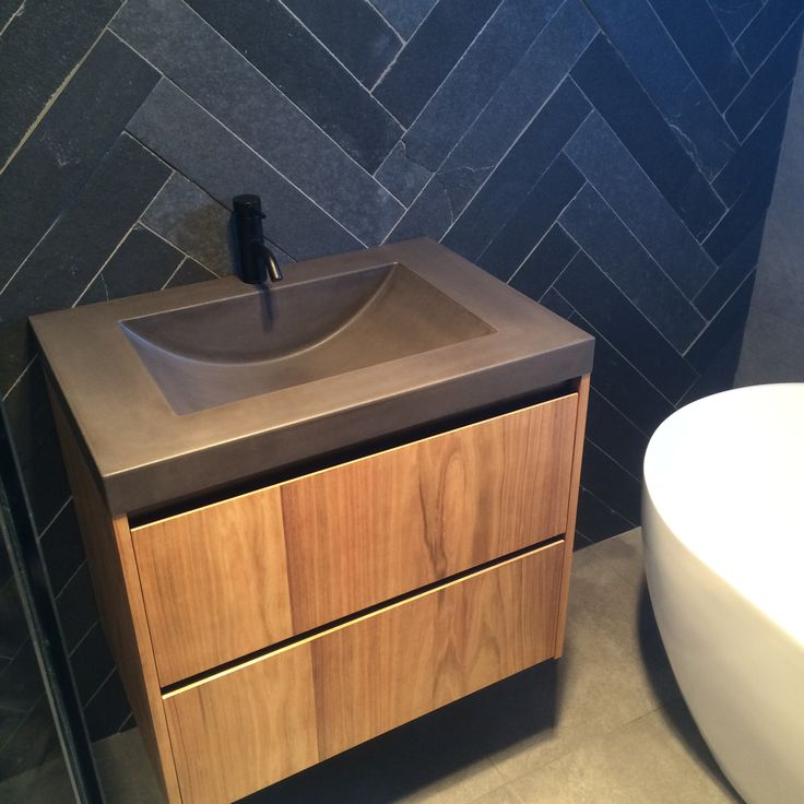 The Awesome Web Polished Concrete Vanity Top by Mitchell Bink Concrete Design mbconcretedesign