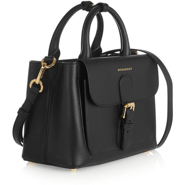 Burberry Shoes Accessories Small Leather Tote 2 295 Liked On Polyvore Featuring Bags Handbags Black Stylish Purses In