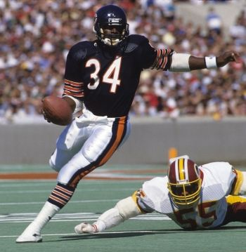 Walter Payton was truly one of the best football players of all time. Miss you, Sweetness.