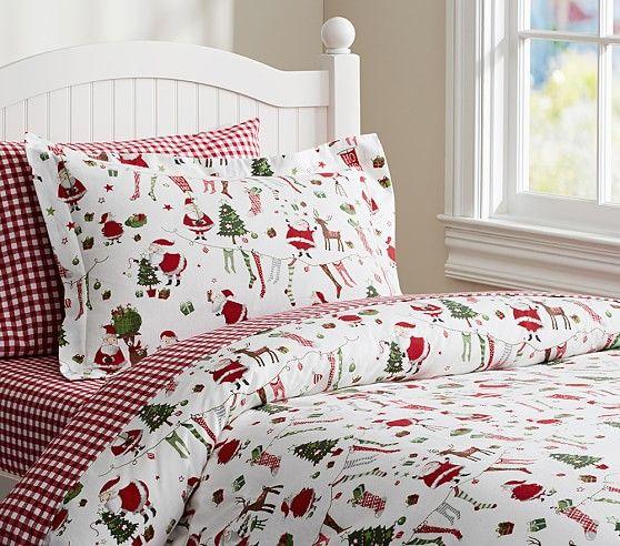 22 besten Christmas bedroom Bilder auf Pinterest Weihnachten - flanell fleece bettwasche kalten winterzeit