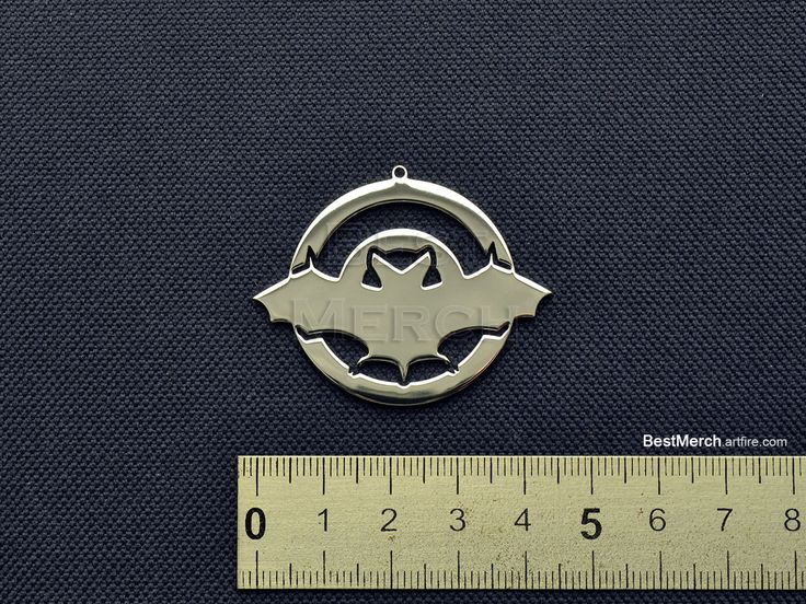Bat Necklace Stainless Steel Pendant Logo Symbol Merch