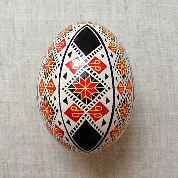 Ukrainian Pysanka. Easter Egg. Real Chicken Egg.