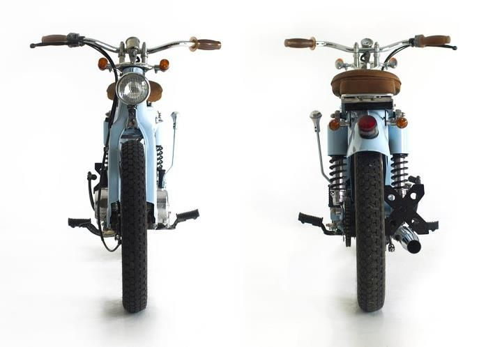 Original post here: You know what they say about judging books and covers . It makes me wanna custom my Honda cub now.