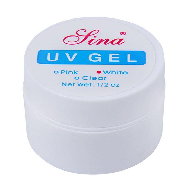 Freeshipping Rosa Blanco Claro Transparente 3 Opciones de Color Profesional UV Gel de Construcción Consejos Gel Del Arte Del Clavo de Manicura de Uñas de Extensión