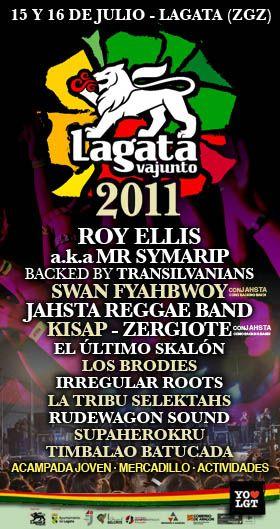 Edición Festival: 2011 :: Lagatavajunto Reggae Festival - 2017