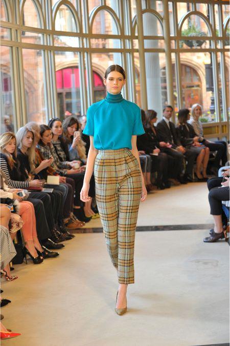 Emilia Wickstead high waist checked trousers