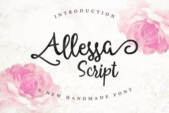 Allessa Script (30% OFF) by Queentype on Creative Market