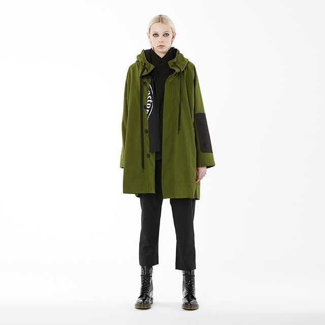 #nomd a/w 2016 anorak in army. available in #zambesi stores now.