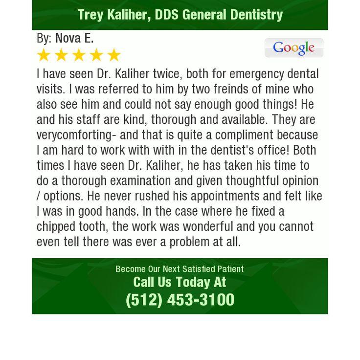 Pin on Trey Kaliher DDS Reviews Austin TX Dentist