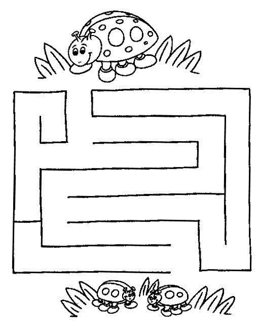 Printable worksheets for kids Mazes 27