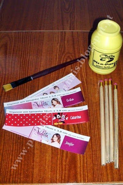 Como personalizar um Lápis - Passo a passo