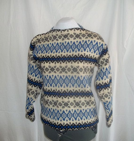 Vintage Men's Wool Ski Sweater