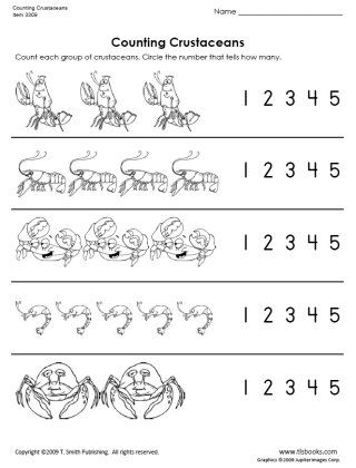 Snapshot image of Counting Crustaceans worksheet