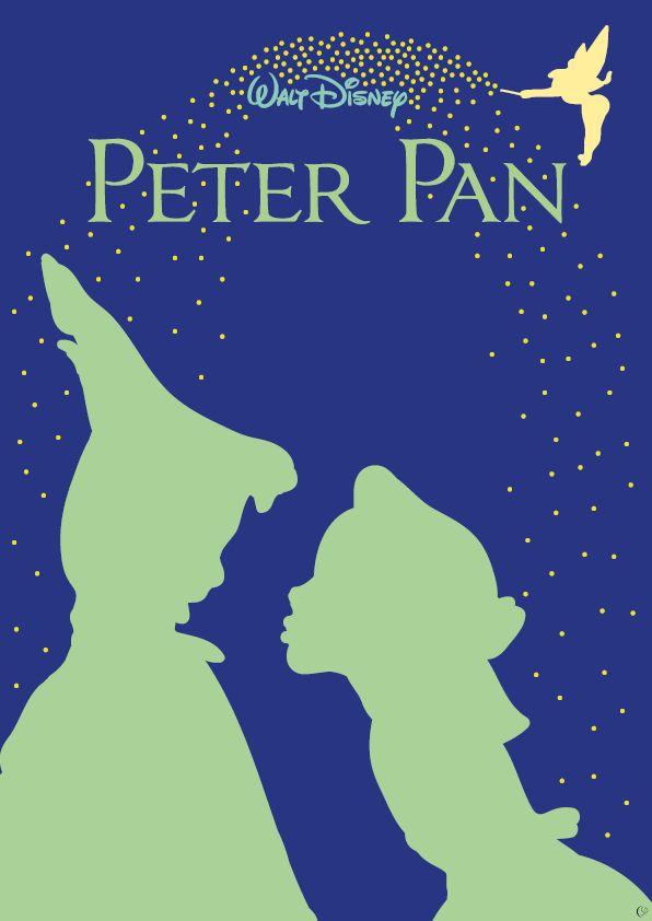 "Disney Poster ""Peter Pan""  #disney #poster #disneyposter #peterpan #tinkerball #simlyposy"