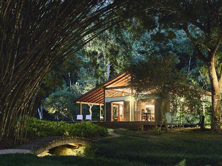 casa Ilha Grande  - Salão, área comum aonde são feitas refeições e aonde salas de estar