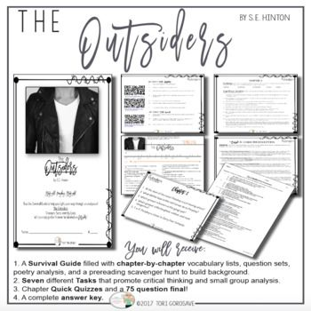 the outsiders close reading paper A division of teacher created materials close reading the literature book summary of the outsiders.