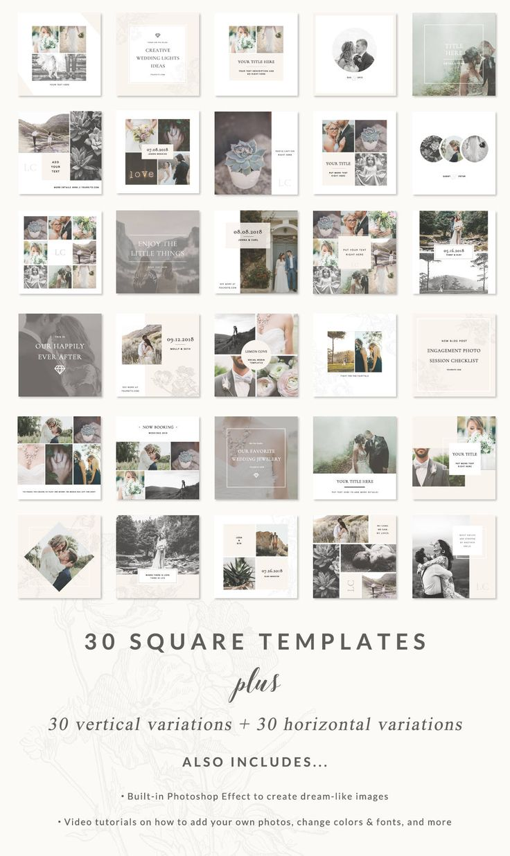 Social media templates – lemon cove collection – easy to edit pinterest, facebook, and instagram templates