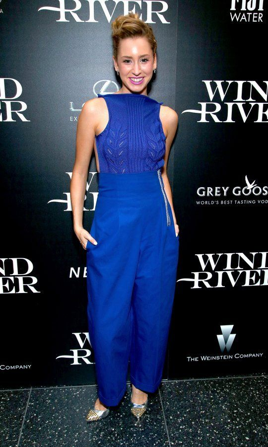 Prince Albert of Monaco's daughter Jazmin Grace Grimaldi stepped out in royal blue for a screening of Wind River at NYC's Museum of Modern Art on August 2.     Photo: Paul Zimmerman/WireImage