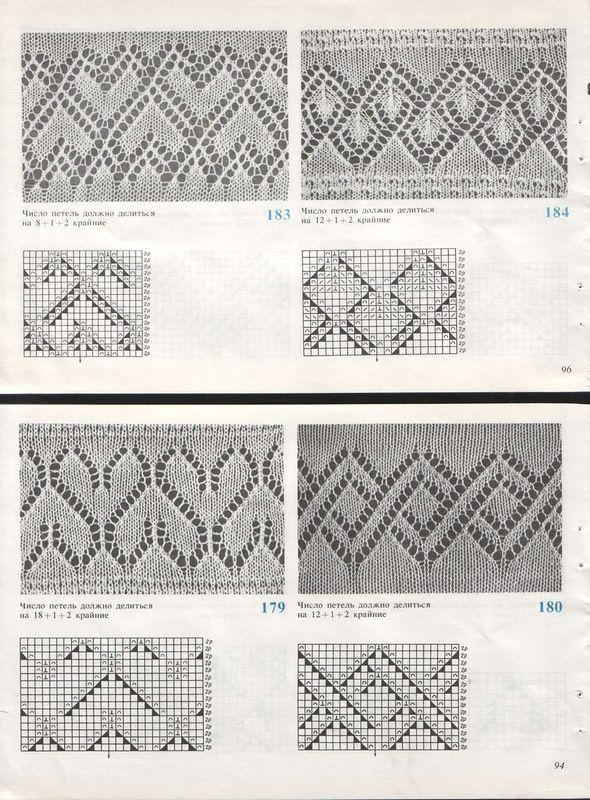 knit lace border pattern