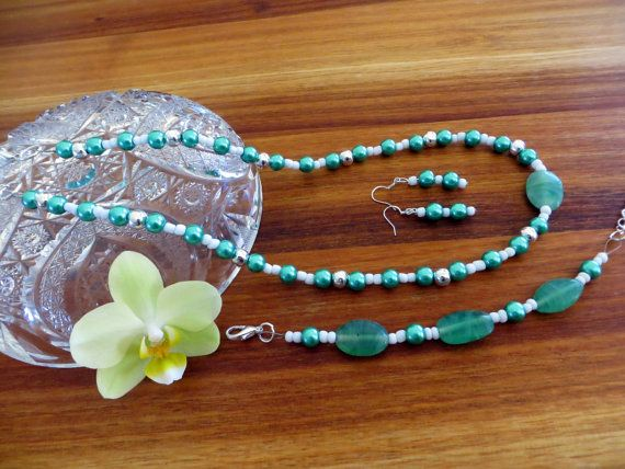 Vibrant Turquoise Mixed-Matched Beaded Jewelry Set by Alli Flair | FREE shipping worldwide with tracking number!