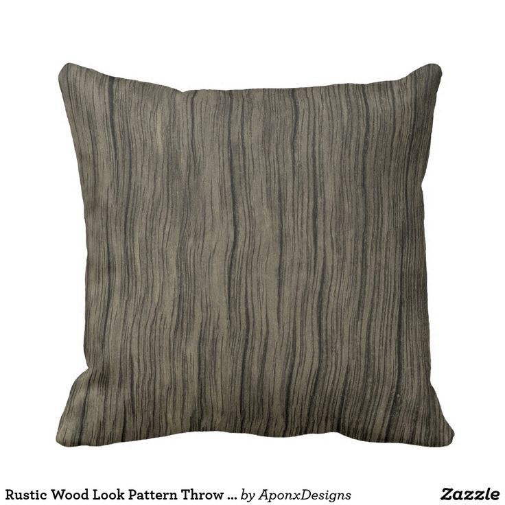 Rustic Wood Look Pattern Throw Pillow