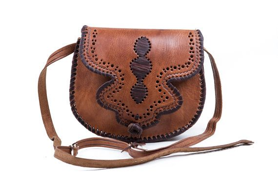 Messenger leather bag womens handbag purse shoulder bag by fezart