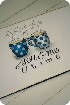 Love sharing a cup of coffee with a friend~