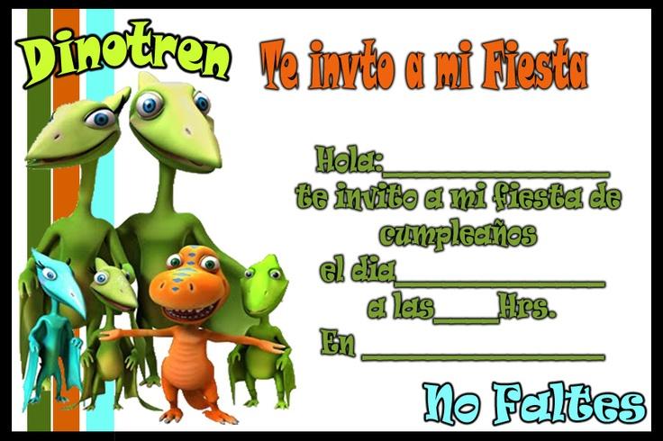 Invitacion de Dinotren | Tarjetas de cumpleaños para imprimirTarjetas ...