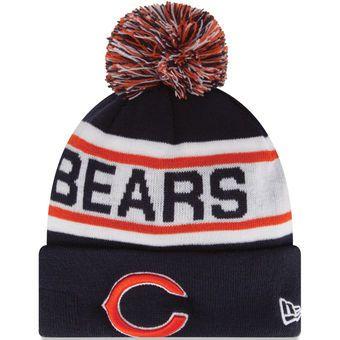 New Era Chicago Bears Navy Blue Biggest Fan Redux Knit Beanie #bears #chicago #nfl