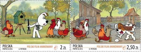 Reksio as the most popular cartoon dog in Poland. Two bright animation stamps released | Stampnews.com