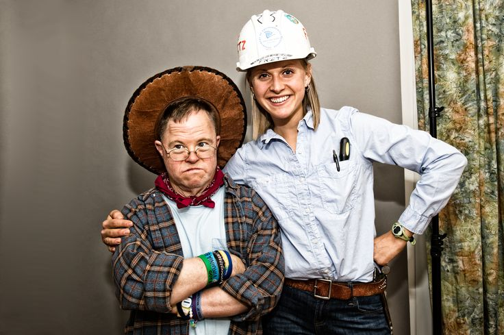 From L'Arche Greater Washington DC: Halloween time at Highland House.  Cowboy and construction worker.