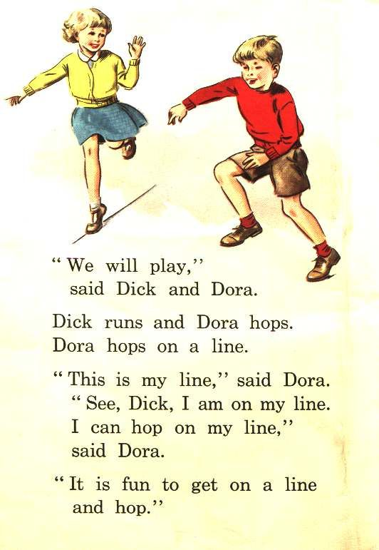 I remember learning to read with Dick and Dora, Fluff and Nip (Happy Venture Readers) in the 1960's!