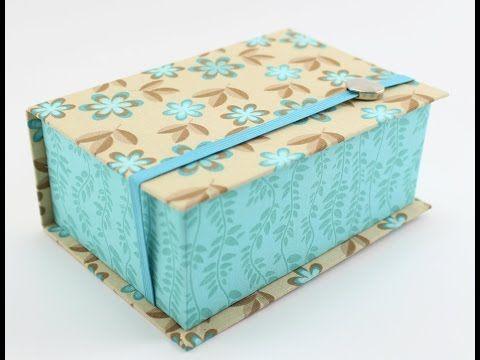 Caixa Livro - Forração em Tecido - Cartonagem - YouTube
