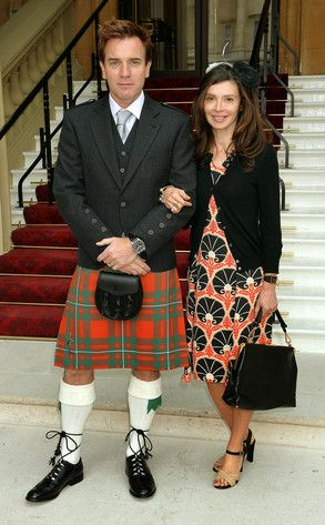 Ewan McGregor with wife, Eve