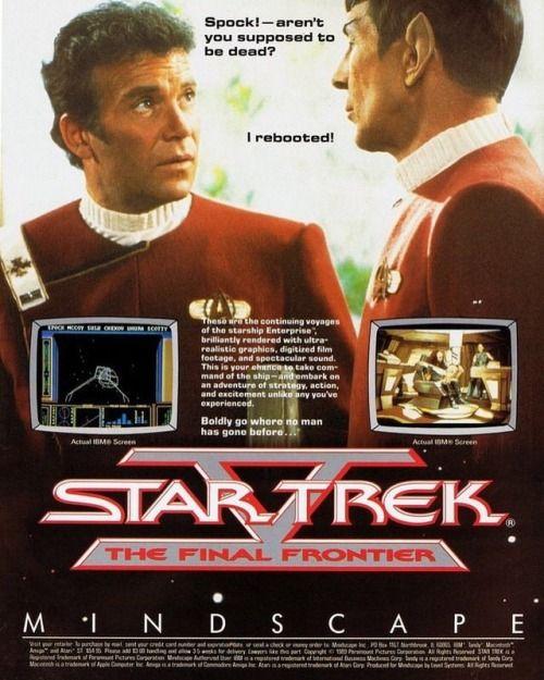 kamilabdulassis: Star Trek V: The Final Frontier computer game...