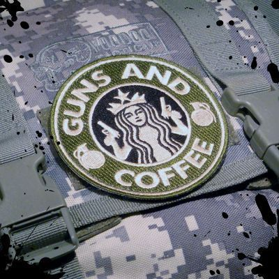 Tactical Guns and Coffee Velcro Morale Military patch