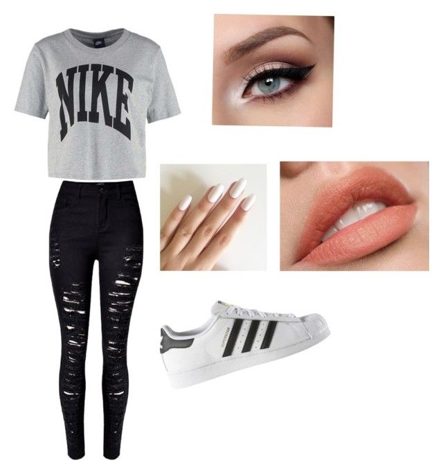 """Untitled #5"" by julle2003 on Polyvore featuring NIKE and adidas"