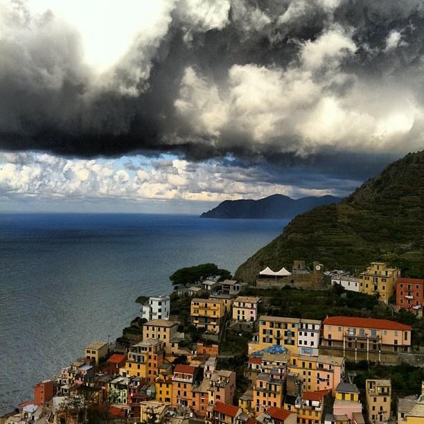 Clouds over Riomaggiore