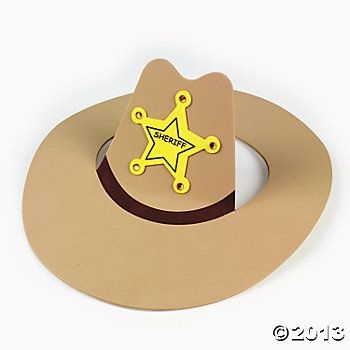 Cowboy Hat Craft  - Could probably make the same ting out of card stock.