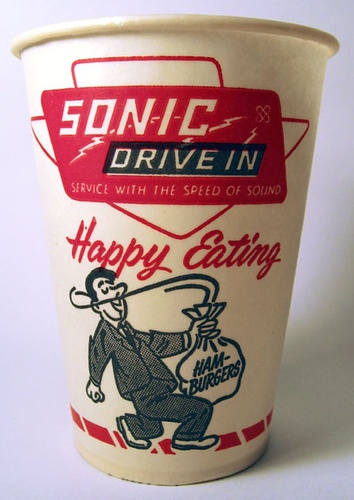 Sonic Drive In Cup by Neato Coolville, via Flickr.1960's