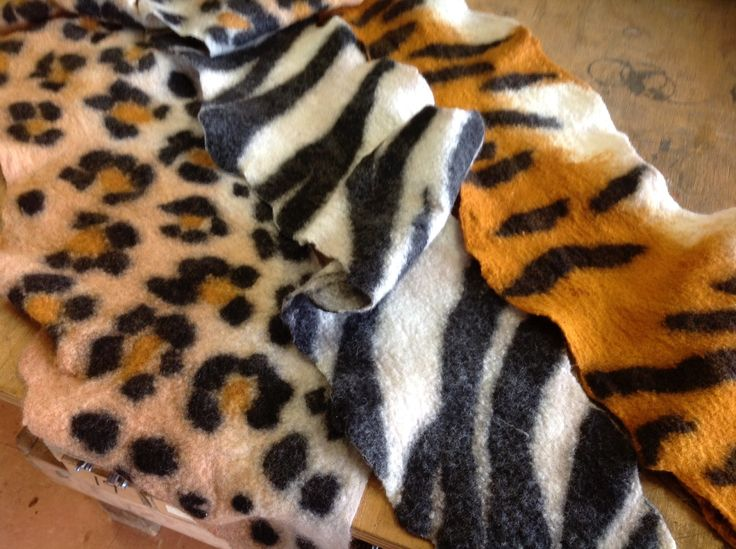 felted animal pelts