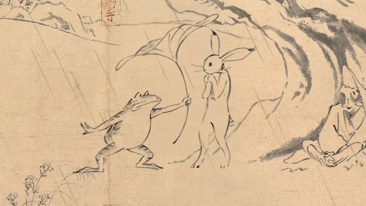 """Studio Ghibli animated Chōjū-Jinbutsu-Giga Emaki, the famous Japanese """"Scrolls of Cartoons of Birds, Animals, and People"""" or """"Chōjū Giga"""" for short, for a Marubeni Power commercial that will begin airing in Japan on April 1. 丸紅新電力 鳥獣戯画「出会い」篇 丸紅新電力とスタジオジブリは、同じ未来を夢見て出会いました。 https://denki.marubeni.co.jp/special/"""