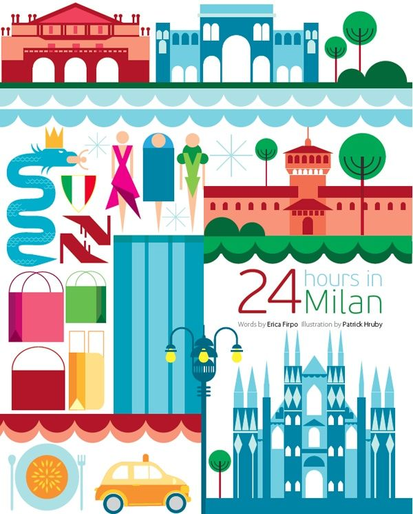 #Milan #Italy http://directrooms.com/italy/hotels/milan-hotels/price1.htm (World City Illustration by Patrick Hruby)