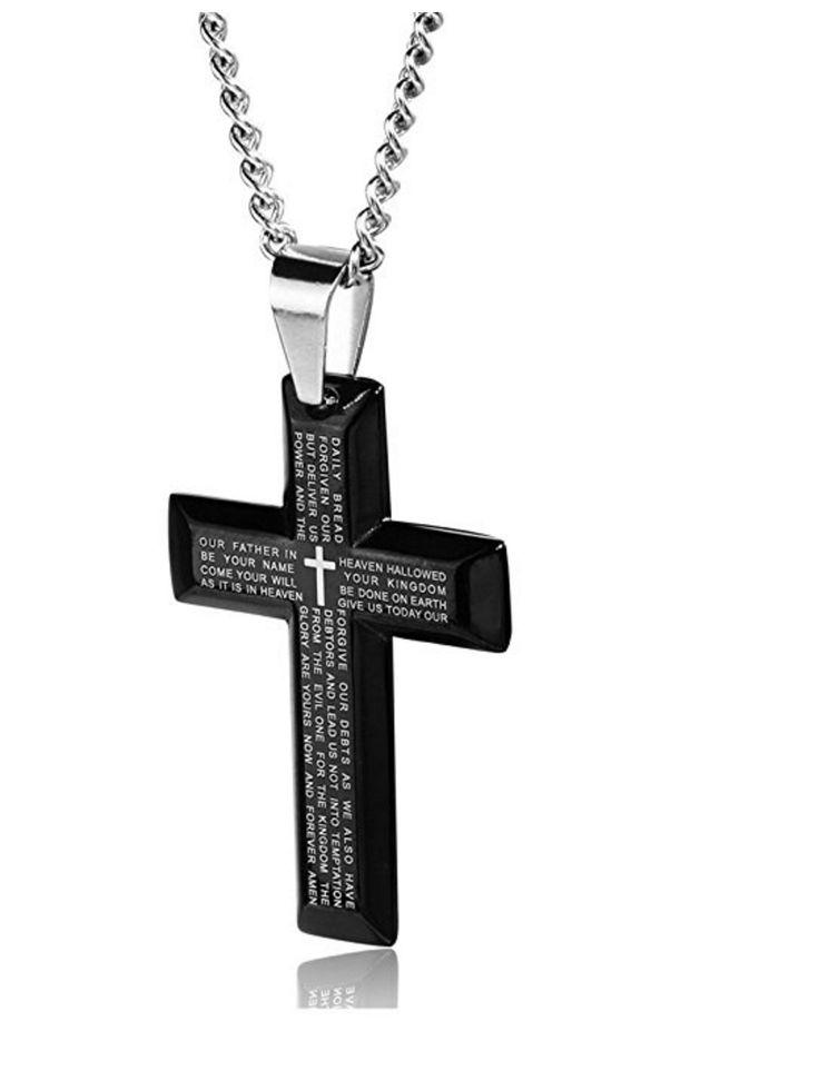 Lord's Prayer Cross Necklace