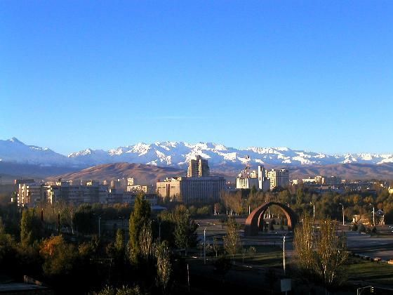 Thinking about the beauty of the mountains in Bishkek, Kyrgyzstan....