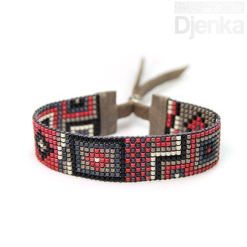 Bransoletka etniczna - beading - Sibu - Djenka